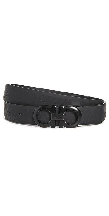 Salvatore Ferragamo Double Adjustable Reversible Belt