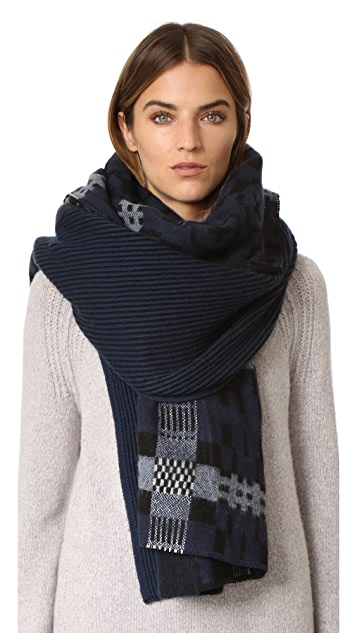 Standard Form Oversized Anders Plaid Scarf