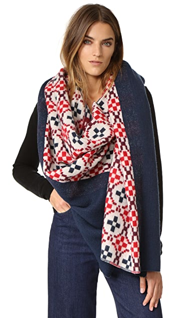 Standard Form Oversized Maja Plaid Scarf