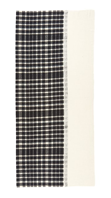 Standard Form Oversized Mini Grid Scarf