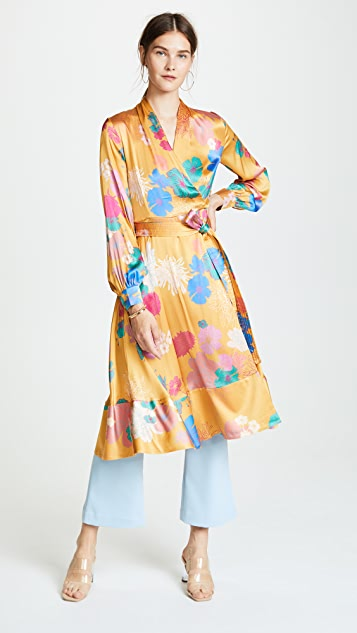 Stine Goya Reflections Silk Wrap Dress