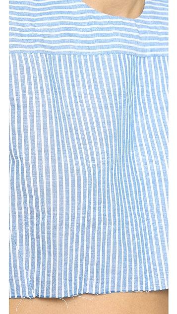 Shakuhachi Boxy Stripe Crop Top
