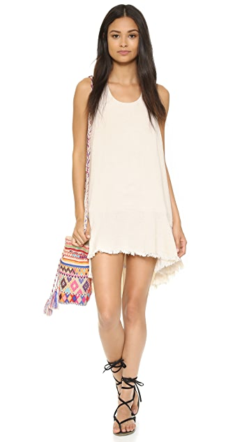 Shakuhachi Raw Hem T Bar Dress