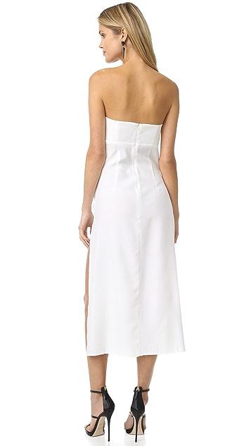 Shakuhachi Ready or Knot Bandeau Midi Dress