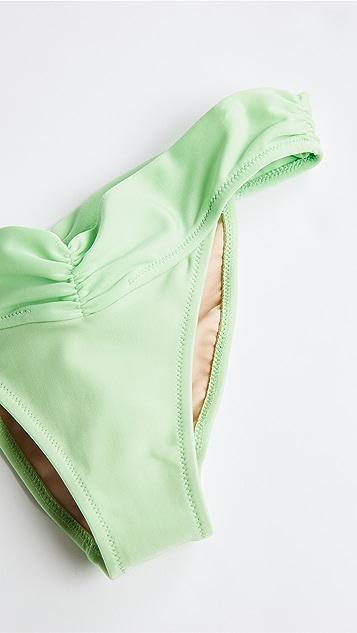 Shani Shemer Apple Green 皱折短内裤