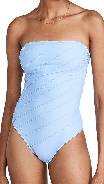 Shani Shemer Capri Stiched Bandeau One Piece Swimsuit