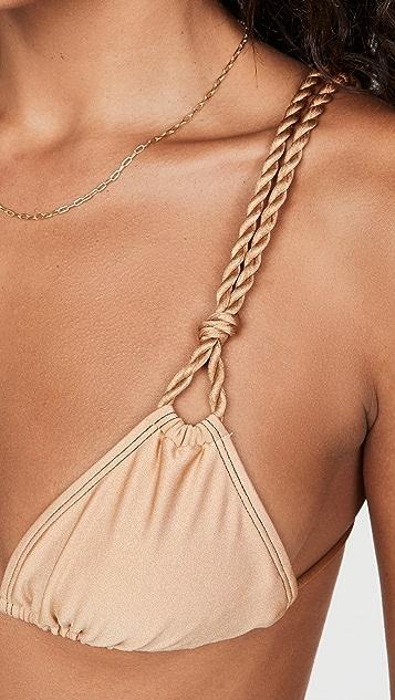 Shani Shemer Honey Triangle Bikini Top