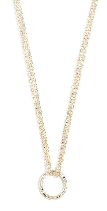 Shashi Circle Necklace - Gold