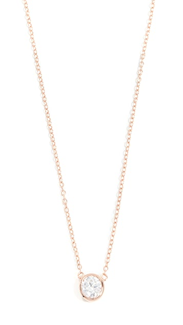 aristides jewels gold fine solitaire white image necklace diamond in