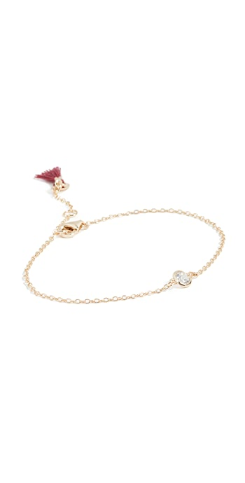 Shashi Solitaire Bracelet - Gold/Clear