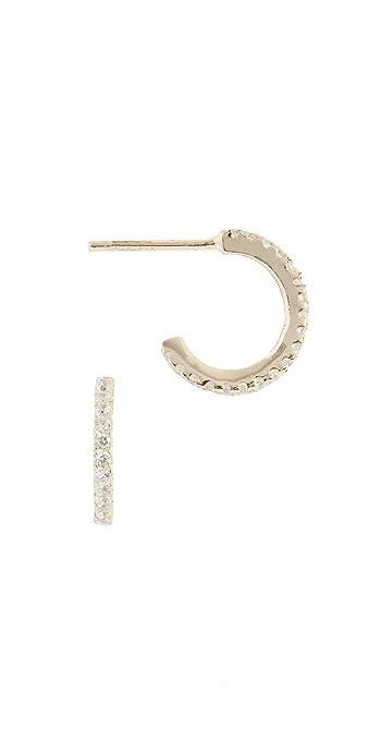Shashi Mini Hoop Earrings - Gold/Clear