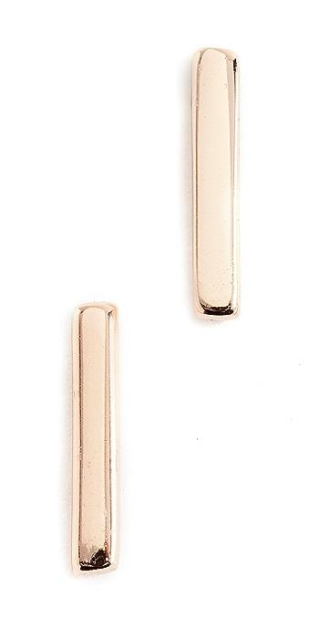 Shashi Bar Earrings - Rose Gold