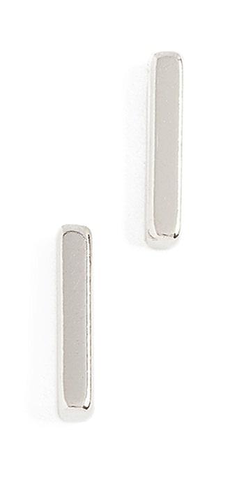 Shashi Bar Earrings - Silver