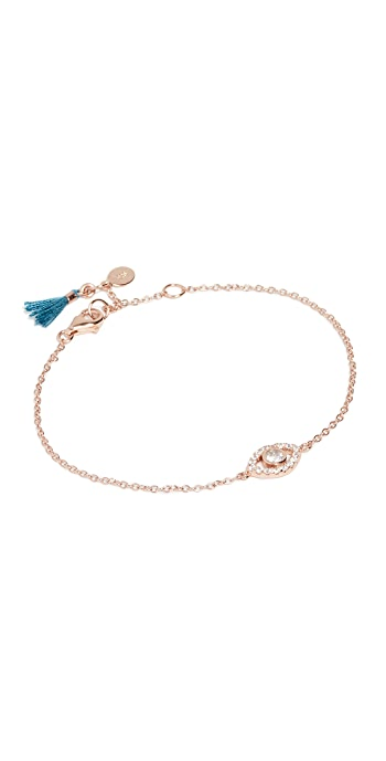 Shashi Evil Eye Bracelet - Rose Gold