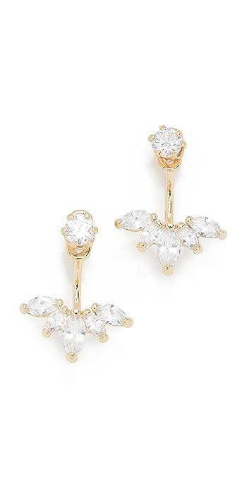 Shashi Marquis Ear Jacket Earrings - Gold/Clear