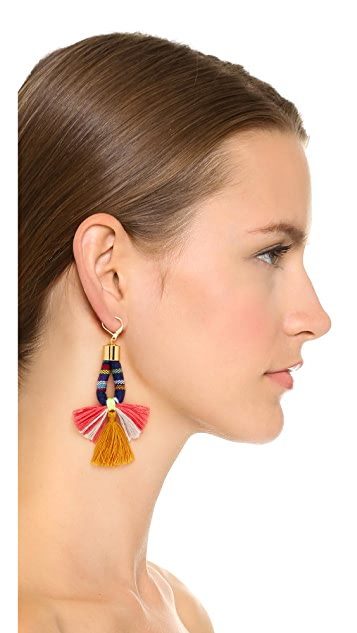 Shashi Small Navy Marlee Earrings