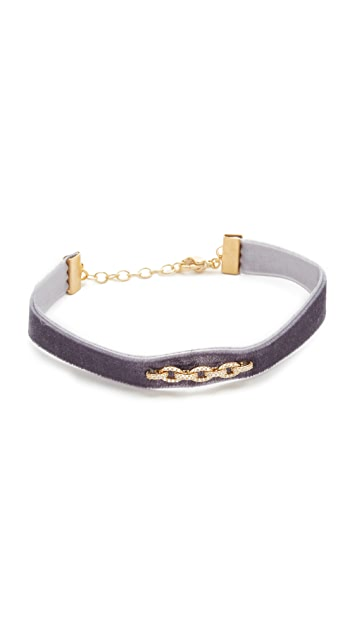 Shashi Pave Chain Luna Bracelet