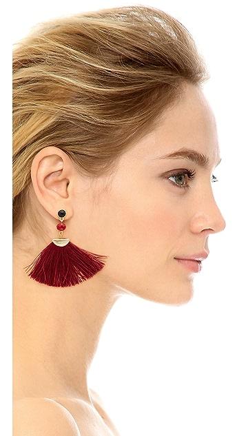 Shashi Mia Fan Tassel Earrings