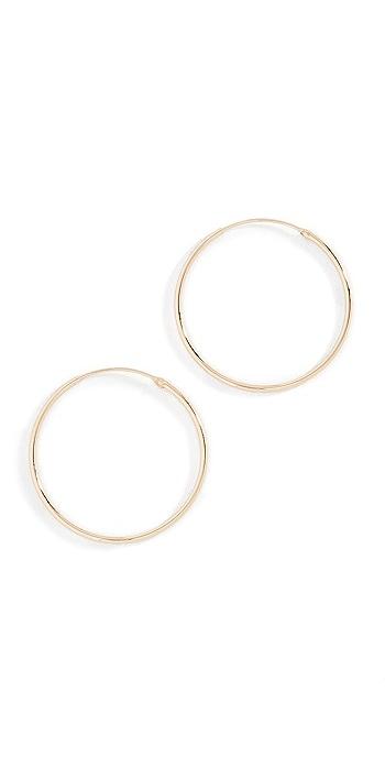 Shashi Plain Hoop Earrings - Gold