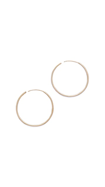 Shashi Plain Hoop Earrings