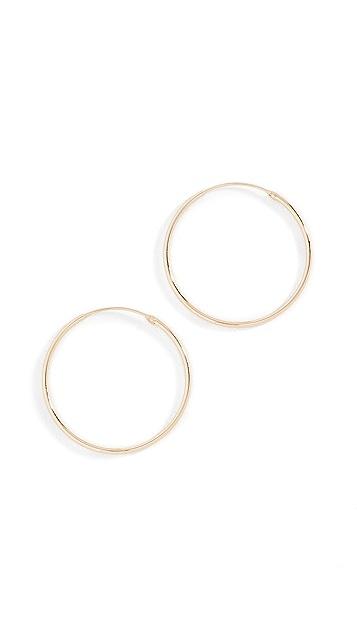 Shashi Plain 圈式耳环