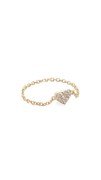 Shashi Heart Chain Ring