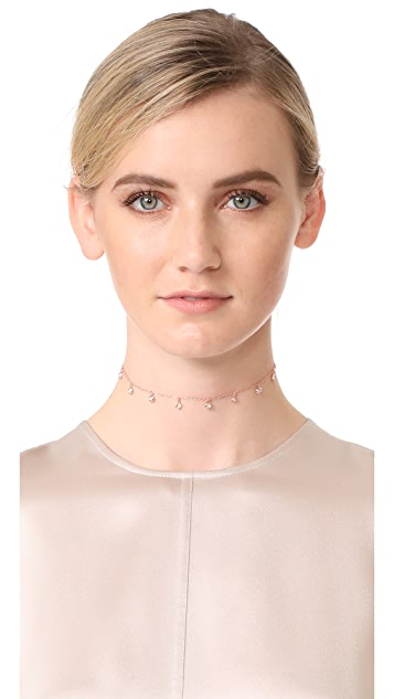 Shashi Solitaire Drop Choker Necklace