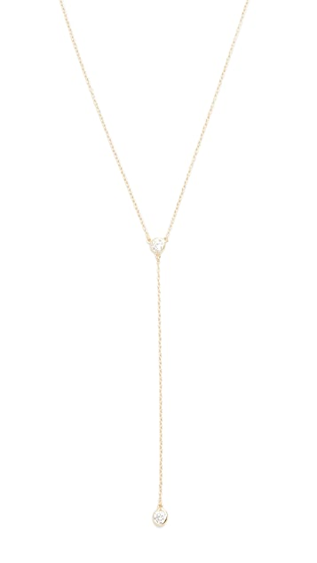 Shashi Solitaire Lariat Necklace