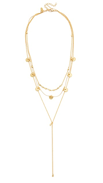 Shashi Disc Lariat Necklace