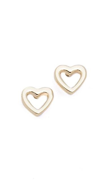 Shashi Heart Stud Earrings