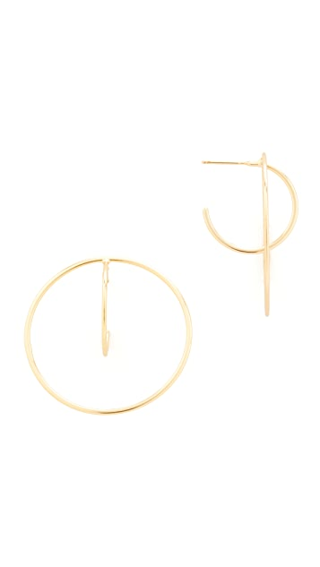 Shashi Venus Hoop Earrings