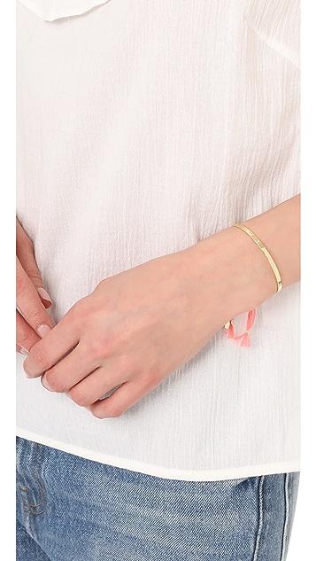 Shashi Sonia Tassel Cuff Bracelet