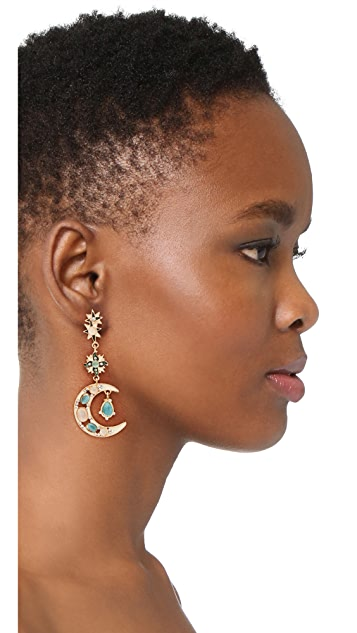 Shashi Moon Star Earrings