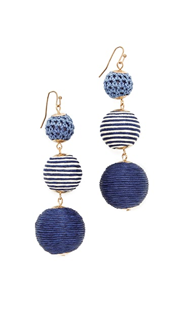 Shashi Matilda Striped Earrings