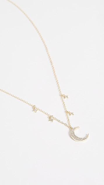 Shashi Luna Pave Necklace