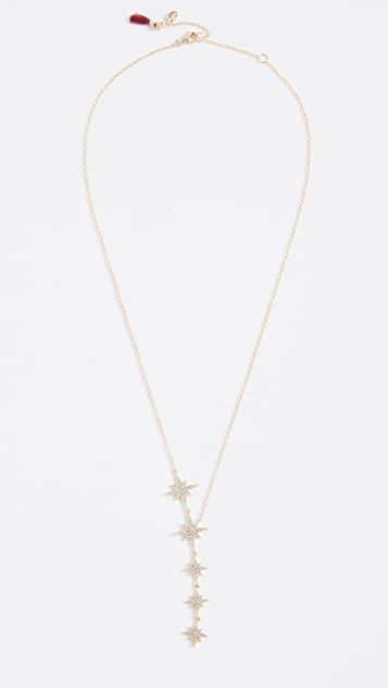 Shashi Starburst Lariat Necklace