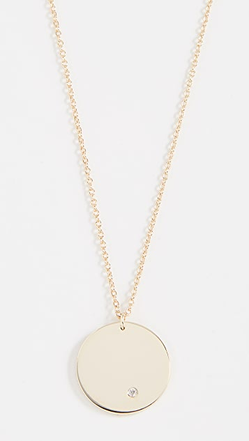 Shashi Circle Pendant Necklace