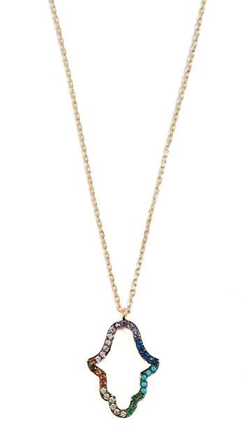 Shashi Hamsa Rainbow Necklace