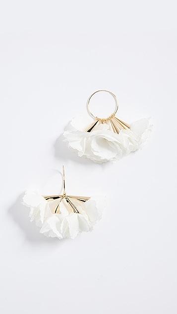Shashi Flower Hoop Earrings OQPBa