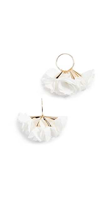 Shashi Rose Hoop Earrings