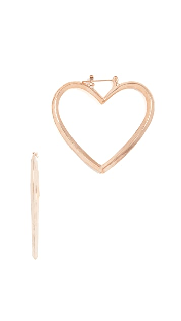 Shashi Heart Hoop Earrings