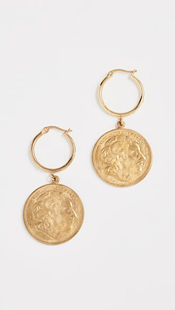 Shashi Warrior Hoop Earrings - Yellow Gold