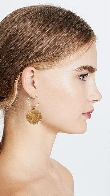 Shashi Warrior Hoop Earrings