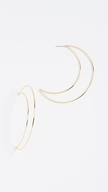 Shashi Moon Hoop Earrings