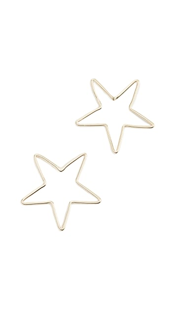 Shashi Big Star Stud Earrings