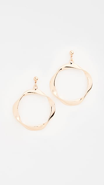 Shashi Riley Hoop Earrings