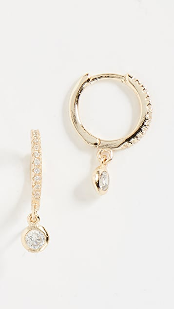 Shashi Bezel Hoop Earrings