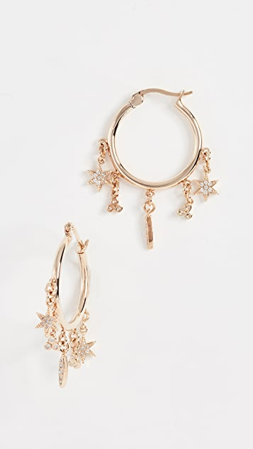 Shashi Tori Pave Hoop Earrings