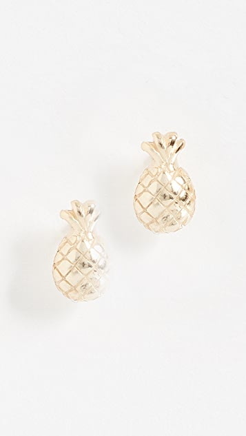 Shashi Tiny Pineapple Earrings