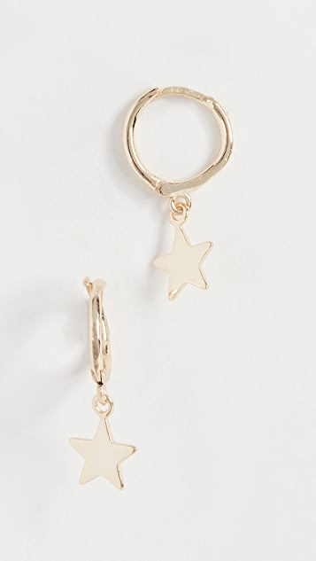 Shashi Luna Charm Huggie Earrings